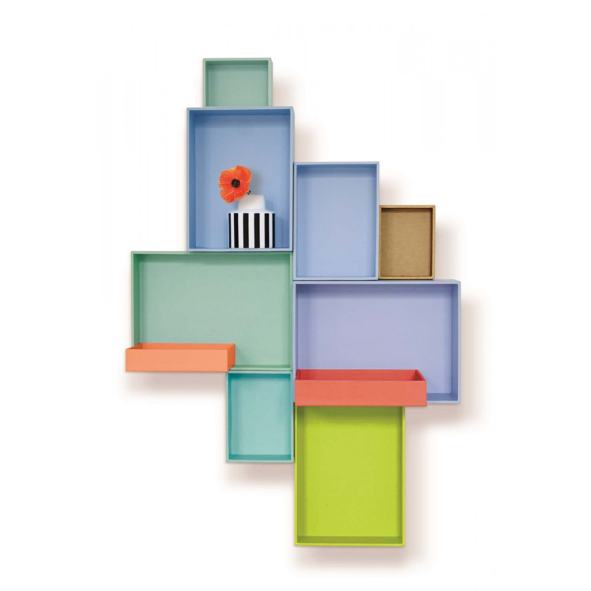 pappap des tag res en carton design caroline munoz. Black Bedroom Furniture Sets. Home Design Ideas
