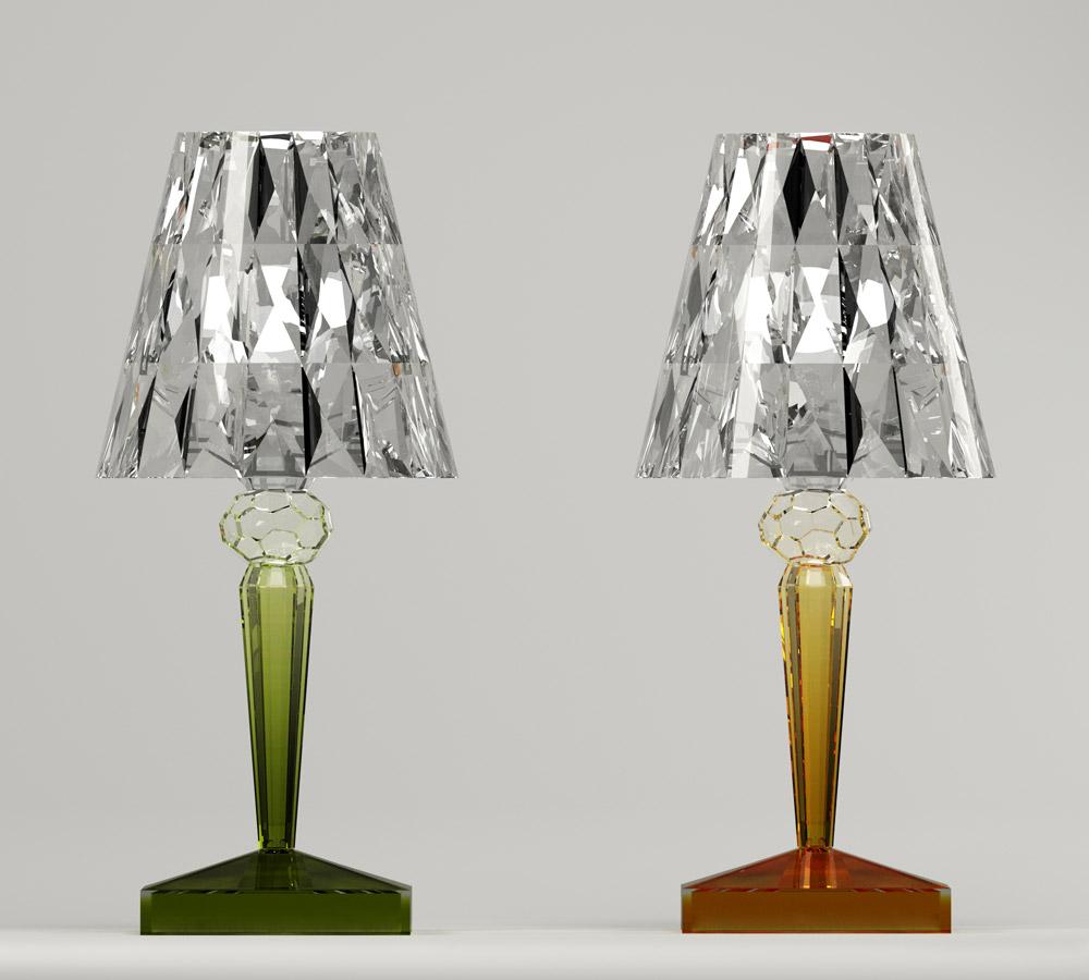 Lampe Battery LED chez Kartell CAROLINE MUNOZ