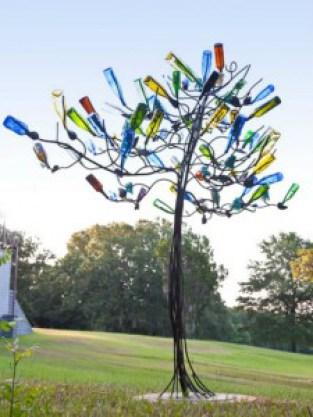 recycler des bouteilles en verre dans le jardin caroline. Black Bedroom Furniture Sets. Home Design Ideas