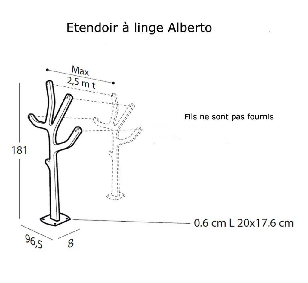Etendoir a linge Alberto 2